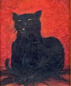 Black cat print from painting by Christopher Hataway